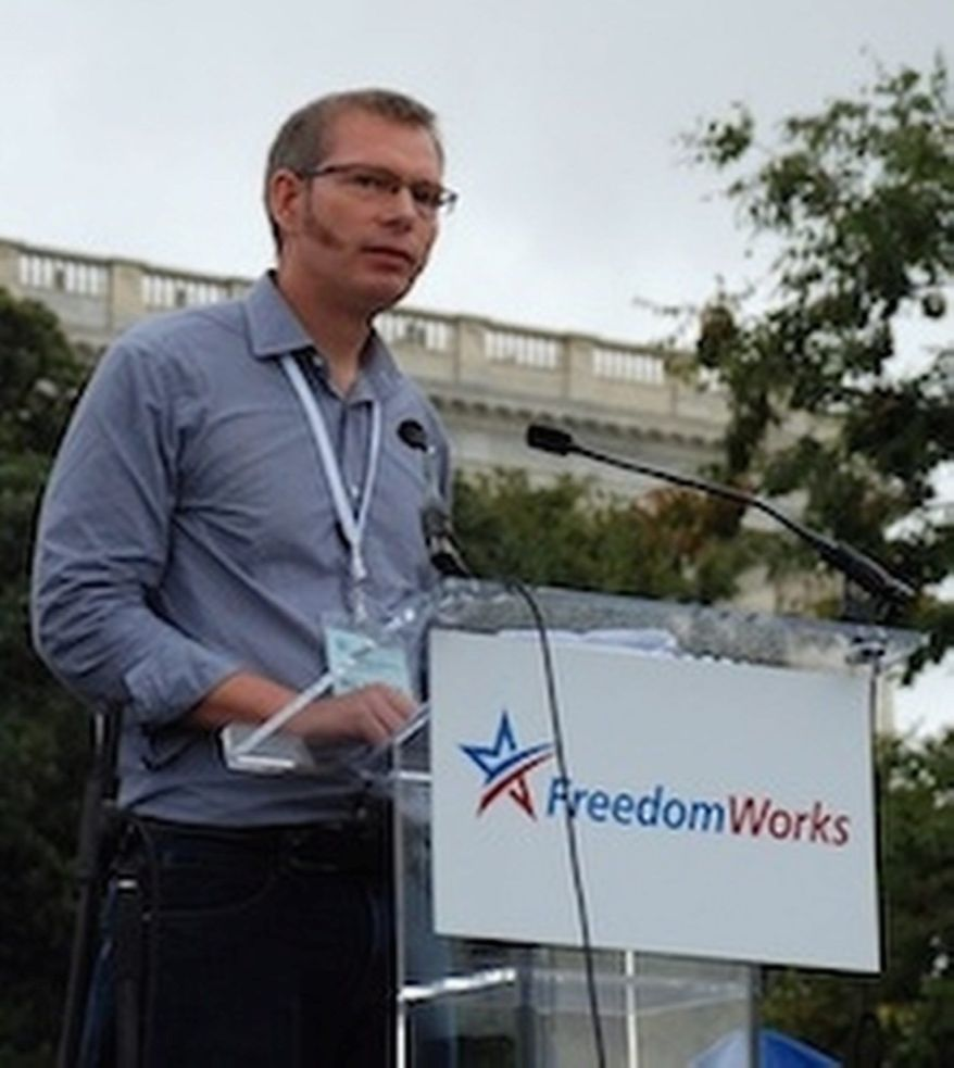 "FreedomWorks President Matt Kibbe's message to the White House: ""Time to get out of the tea party's way."" (Photo provided by FreedomWorks)"