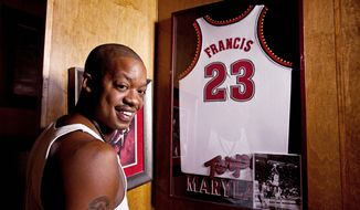 Former NBA basketball player Steve Francis, poses for a portrait July 28, 2011 in Houston at his home. (Eric Kayne/Special to The Washington Times)