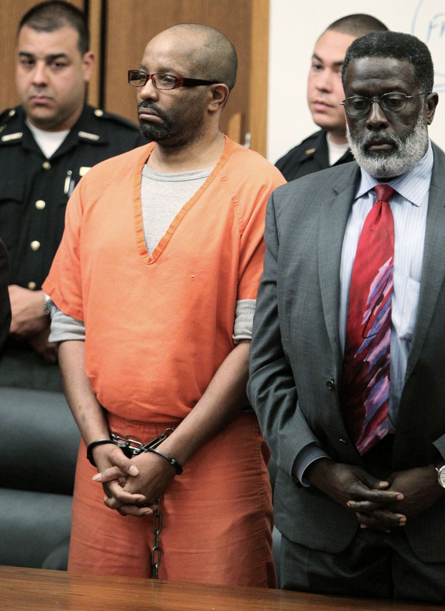 Associated Press Convicted serial killer Anthony Sowell stands Wednesday with his attorney, Rufus Sims, in court in Cleveland as a jury recommends the death penalty for his crimes.