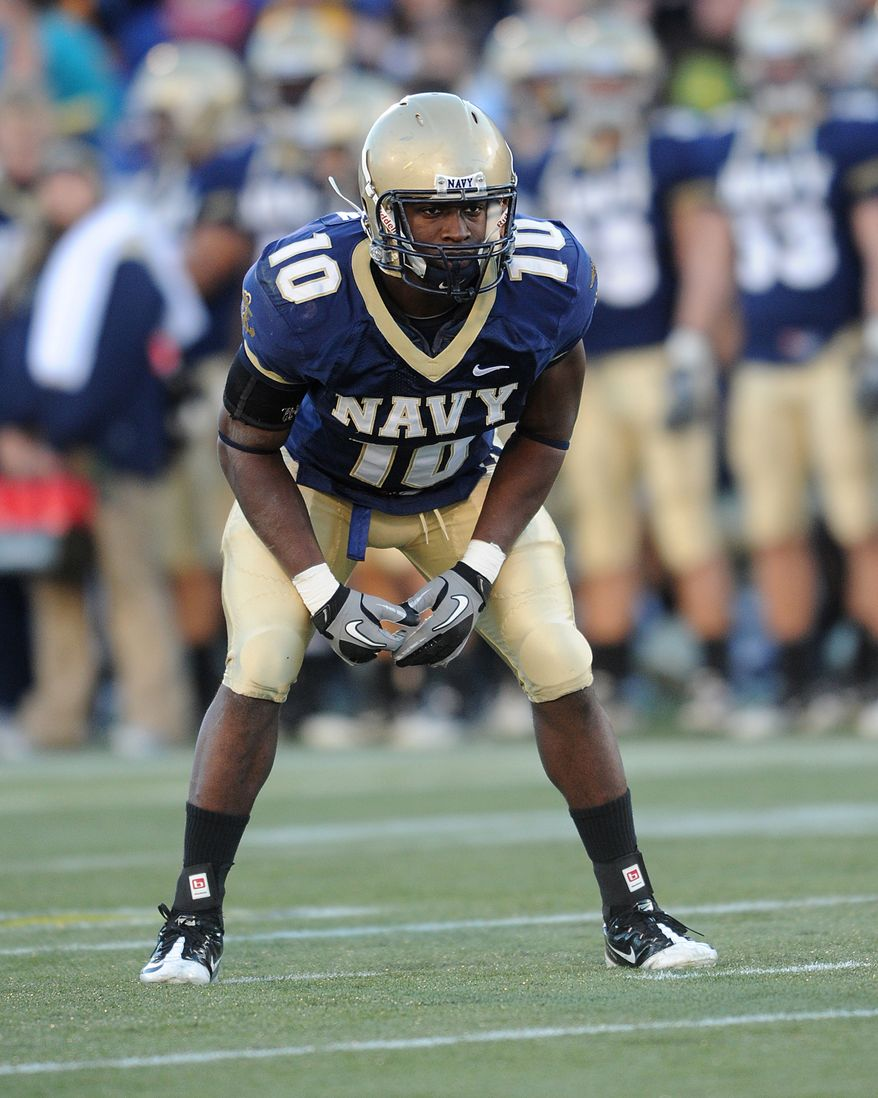 After battling through a number of injuries, Navy's Jarred Shannon is ready to become the latest single-year starter at outside linebacker for the Midshipmen. (Navy Athletics)
