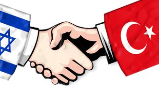Illustration: Israel and Turkey by John Camejo for The Washington Times