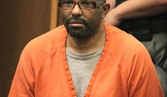 **FILE** Anthony Sowell sits in the courtroom before the jury recommended the death penalty for Sowell on Aug. 10, 2011 in Cleveland. (Associated Press/The Plain Dealer)