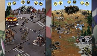 Brutal battles occur in combat ravaged locations in the iPad game Hills of Glory: WWII Premium HD.