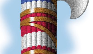 Illustration: Fasces by Alexander Hunter for The Washington Times
