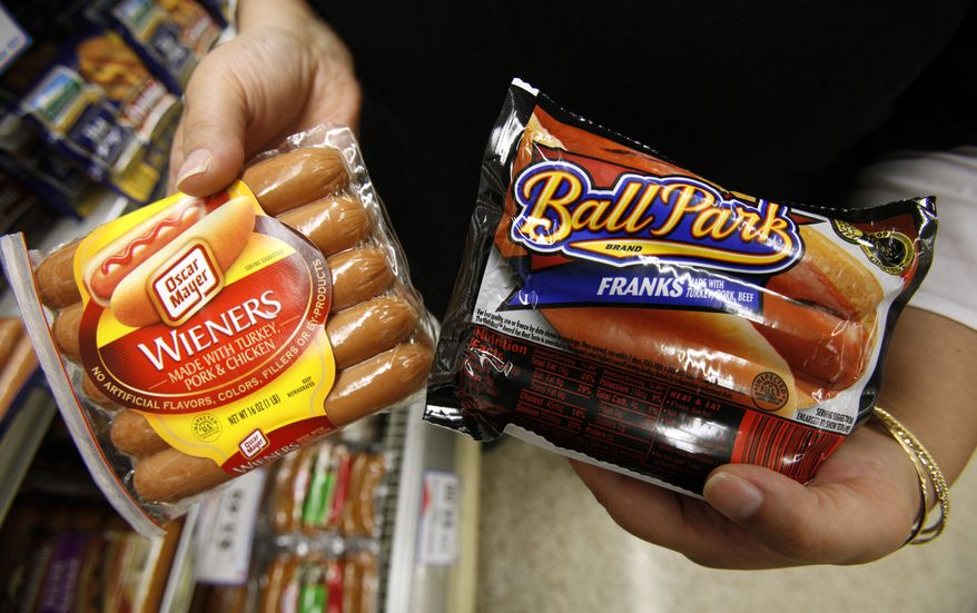 Kraft Foods Inc., the maker of Oscar Mayer wieners, and Sara Lee Corp., owner of Ball Park franks, are in federal court in Chicago, where a judge will determine whether either company broke false-advertising laws in efforts to become the nation's top dog. (AP Photo/Charlie Neibergall, File)
