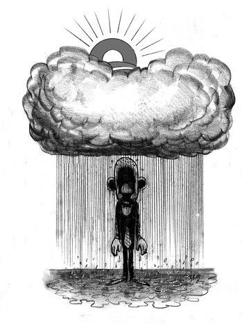 Illustration: Bad luck by Alexander Hunter for The Washington Times
