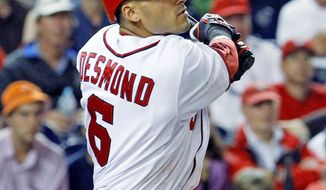 Shortstop Ian Desmond has struggled from the leadoff spot, batting just .167 with a .196 on-base percentage. (Associated Press)