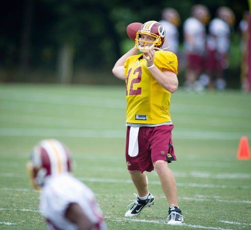 Redskins quarterback John Beck hasn't seen action in an NFL regular-season game since 2007 when he was with Miami. He'll start Friday night's preseason game at Indianapolis. (Rod Lamkey Jr./The Washington Times)