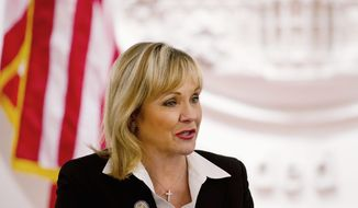 ** FILE ** Oklahoma Gov. Mary Fallin (The Washington Times)