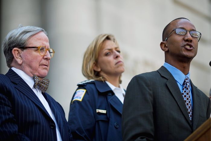 **FILE** D.C. Council member Jim Graham (left), Chief of Police Cathy L. Lanier (center) and interim DYRS Director Neil A. Stanley (Drew Angerer/The Washington Times)
