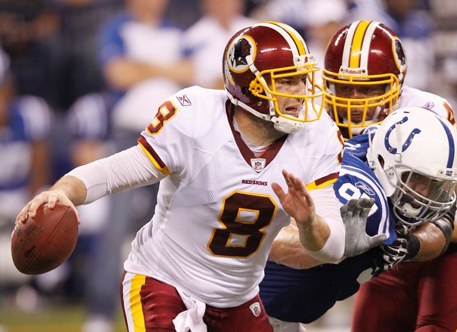 Washington Redskins quarterback Rex Grossman will get the start Thursday night against the Baltimore Ravens. (Associated Press)
