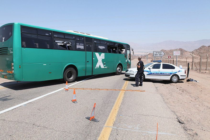 ASSOCIATED PRESS Gunmen ambushed a civilian Israeli bus near the resort town of Eilat last week. U.S. intelligence agencies are investigating reports that al Qaeda-aligned groups played a key role in the attack that emanated from the increasingly lawless Sinai Peninsula.