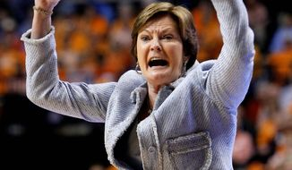 Tennessee coach Pat Summitt, 59, has won 1,071 games and led the Volunteers to eight national championships. (Associated Press)