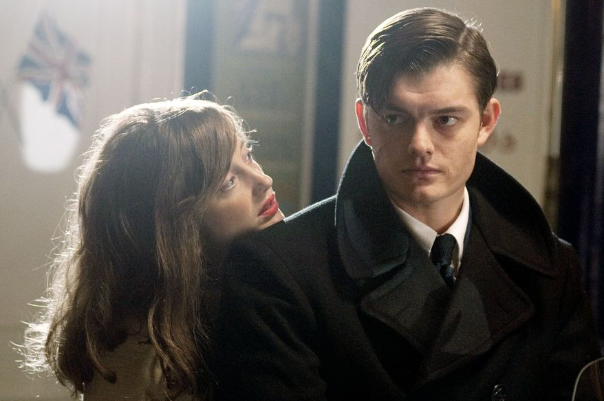 """A sociopath (Sam Riley) and a woman looking for """"a life"""" (Andrea Riseborough) forge a twisted relationship in """"Brighton Rock."""" (IFC Films via Associated Press)"""