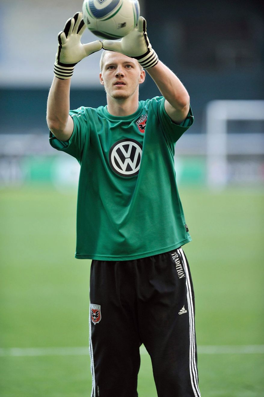 Joe Willis has started three games for D.C. United, giving up four goals on 16 shots. (Courtesy Ben Keller/D.C. United)
