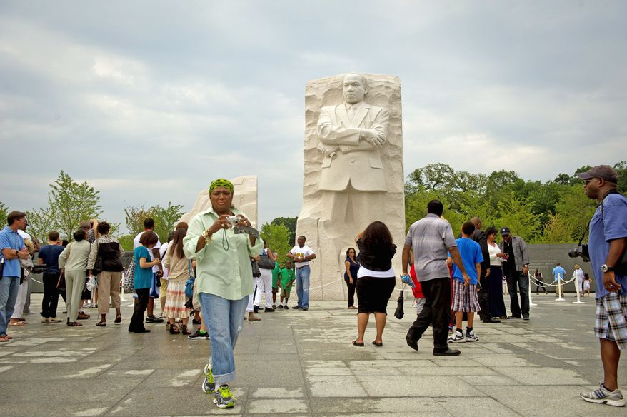 ** FILE ** The Martin Luther King Jr. National Memorial on the Mall. (Rod Lamkey Jr./The Washington Times)