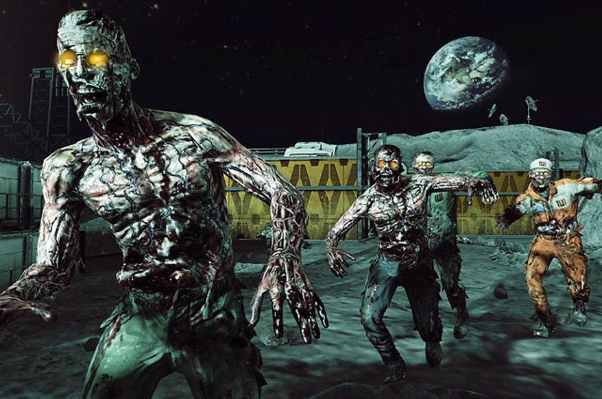 Fight zombies on the moon in the video game supplement Call of Duty: Black Ops Rezurrection.