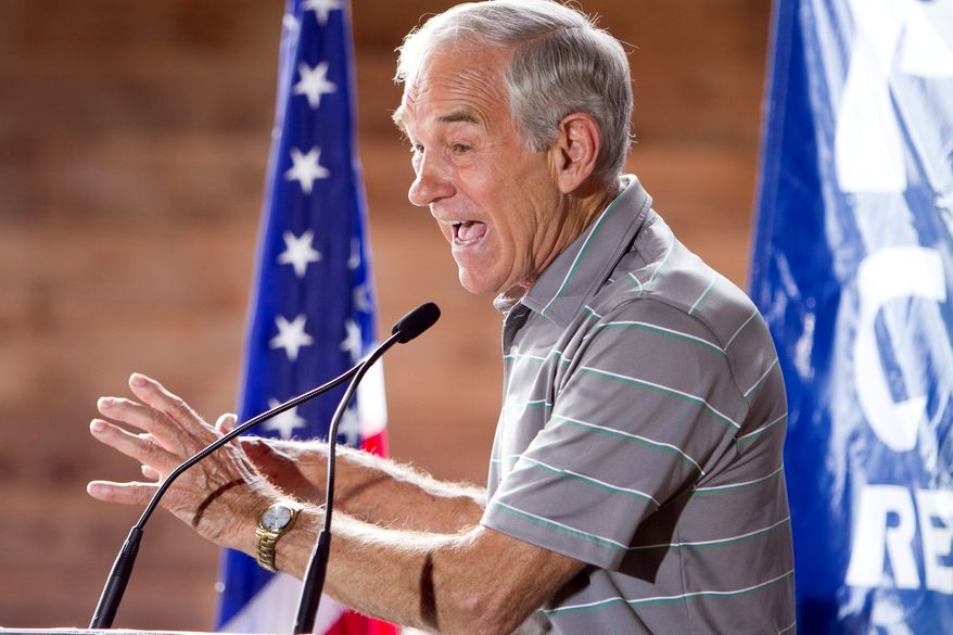 ** FILE ** Rep. Ron Paul, Texas Republican (Associated Press)
