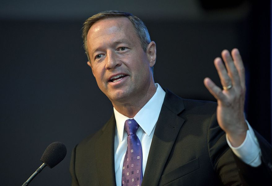 Martin O'Malley (Barbara L. Salisbury/The Washington Times)