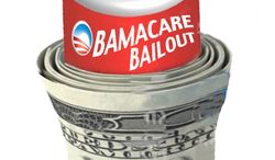 Illustration: Obamacare bailout by John Camejo for The Washington Times