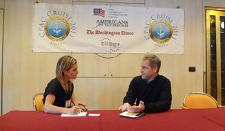 Emily Miller interviews Alaska Gov. Sean Parnell on the CPAC cruise in Juneau.