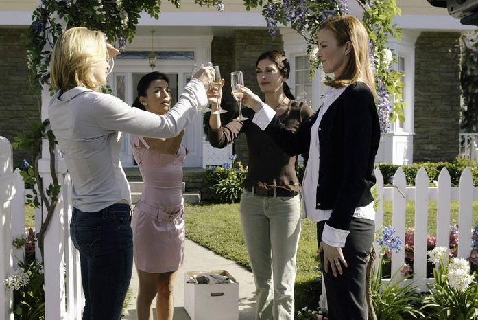 """Desperate Housewives"" stars (from left) Felicity Huffman, Eva Longoria, Teri Hatcher and Marcia Cross may be ending their run with the show after this season, but their characters will live on in a new Turkish version of the hit show called ""Umutsuz Ev Kadinlari."" (ABC via Associated Press)"