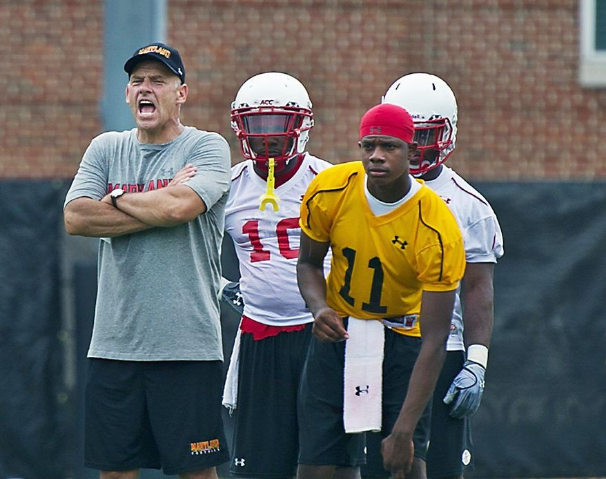 Maryland offensive coordinator Gary Crowton will not return to the program next season after one year with the school. (Drew Angerer/The Washington Times)