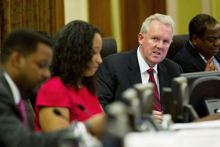 """@Subhead.frcd.22:""""This could have substantial impact, so there needs to be a normal legislative process and an opportunity for residents to be heard. We need a full committee report on this."""" @PullQuoteSig:-D.C. council member Tommy Wells, Ward 6 Democrat"""