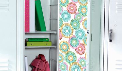 The Container Store offers wallpaper designed to decorate lockers.