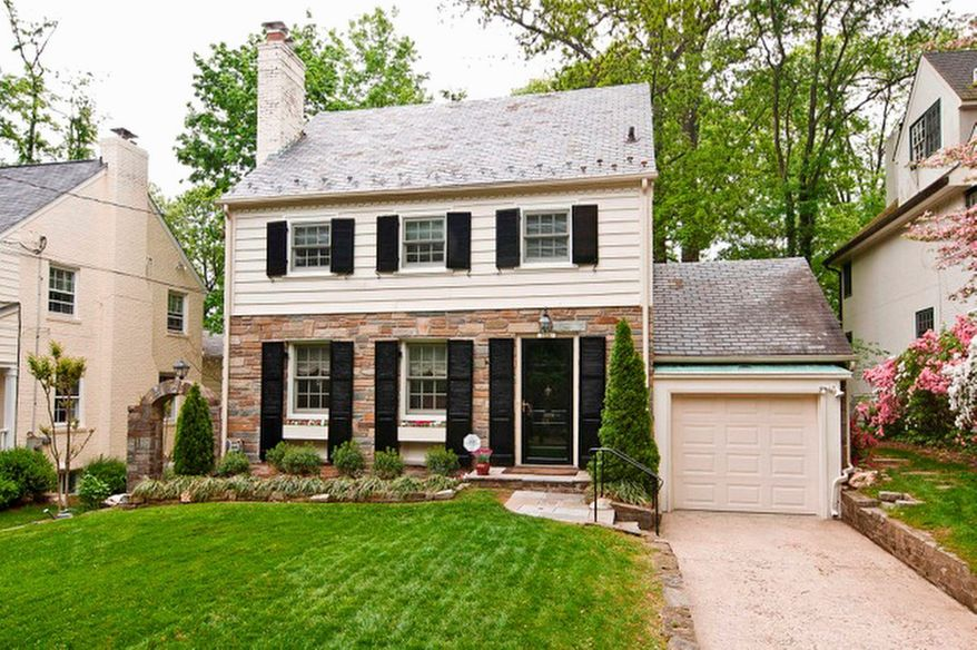 The home at 7313 Summit Ave. in the Martin's Additions community in Chevy Chase is on the market for $895,000. The four-bedroom home, built in 1936, has an attached one-car garage.
