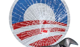 Illustration: Glass breaker by Greg Groesch for The Washington Times