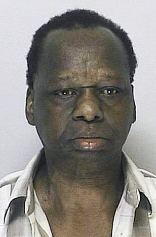 This booking photo from Aug. 24, 2011, shows Onyango Obama, who was arrested in Framingham, Mass., for several infractions, including operating a motor vehicle under the influence of alcohol. He is the uncle of President Obama. (Associated Press)