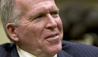 President Obama's chief counterterrorism adviser, John Brennan, speaks with the Associated Press during an interview in the Roosevelt Room at the White House in Washington, Wednesday, Aug. 31, 2011. (AP Photo/J. Scott Applewhite)