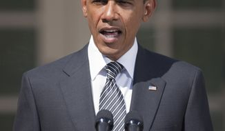 **FILE** In this photo from Aug. 31, 2011, President Obama speaks at White House in Washington. (Associated Press)