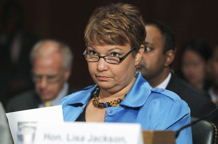**FILE** In this photo from June 15, 2011, Environmental Protection Agency (EPA) administrator Lisa Jackson testifies on Capitol Hill. (Associated Press)
