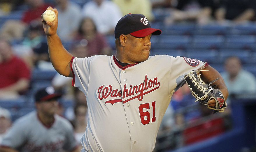 associated press Nationals veteran Livan Hernandez has always been durable. Sunday marked his 474th consecutive start.