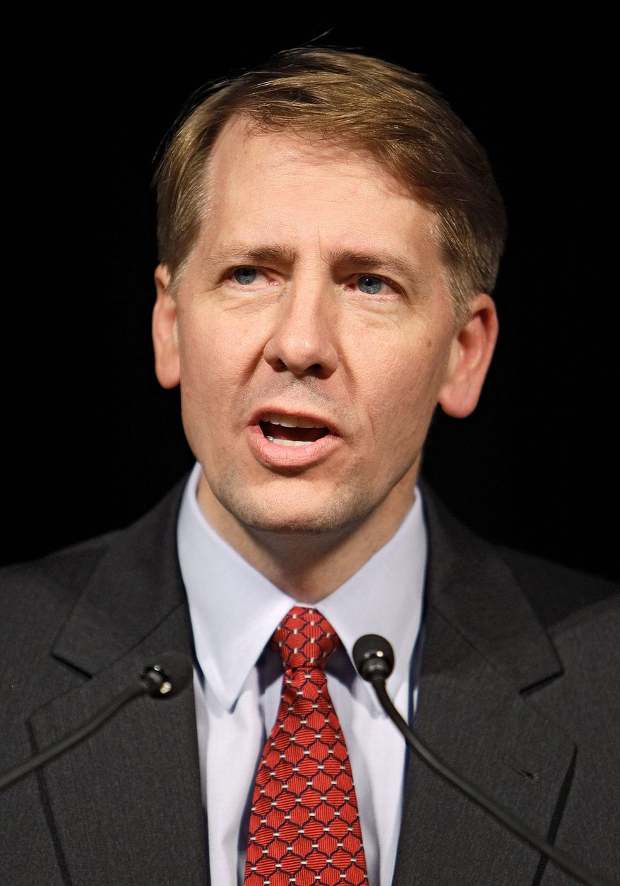 ASSOCIATED PRESS Former Ohio Attorney General Richard Cordray has been nominated to head the new Consumer Protection Bureau. But Senate Republicans say he would have too much power. Democrats, for their part, complain of political games being played in the process.