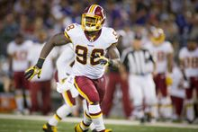 Redskins linebacker Brian Orakpo and strong safety LaRon Landry will be game-time decisions on Sunday when Washington faces the Arizona Cardinals. (Rod Lamkey Jr./The Washington Times)