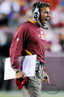 Jim Zorn experienced a four-game dropoff in 2009, his second season as  the Redskins' coach. (Rod Lamkey Jr./The Washington Times)