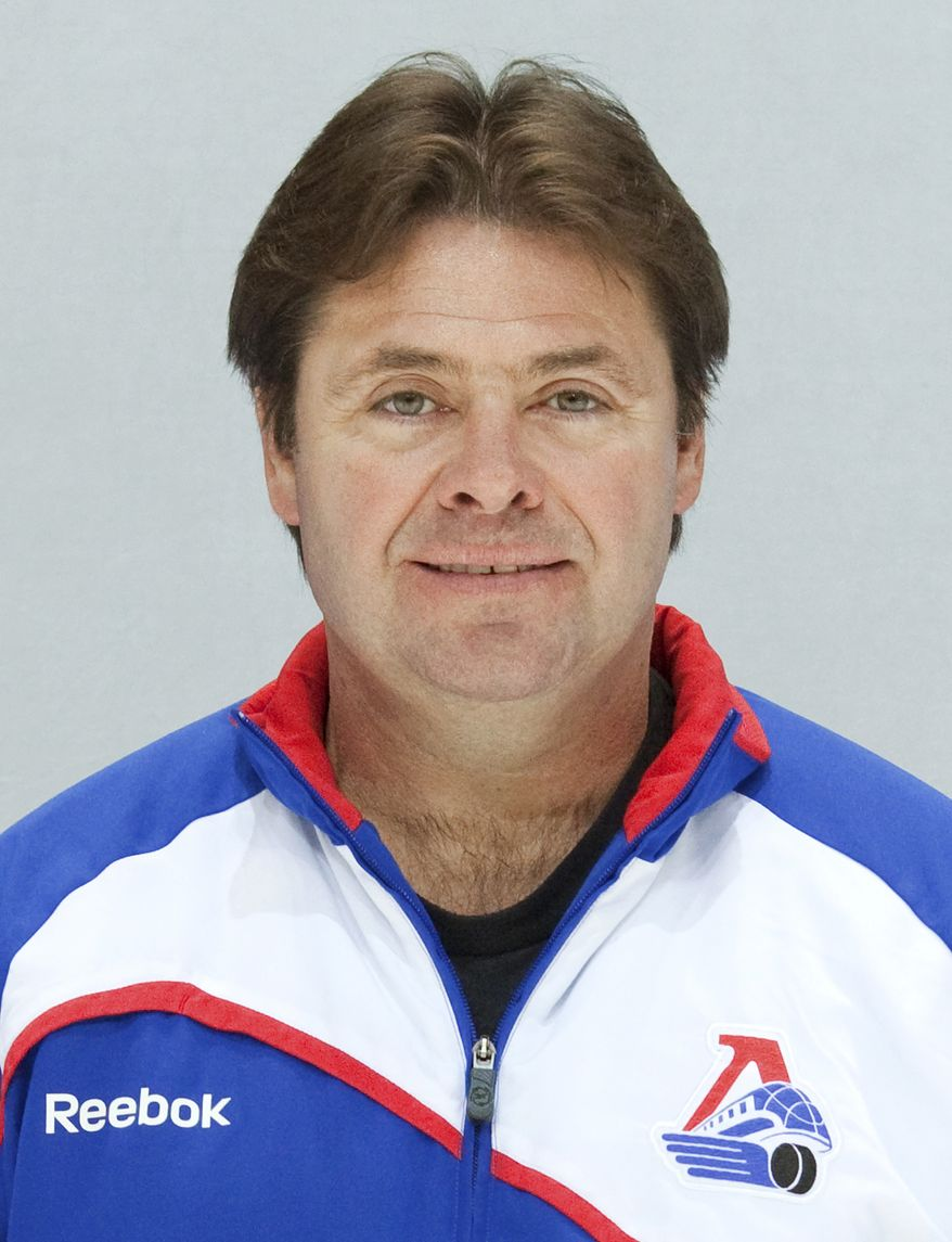 This undated photo shows Canadian Brad McCrimmon, coach of the Lokomotiv ice hockey team, killed in a plane crash on Wednesday, Sept. 7, 2011. A Russian jet carrying the Lokomotiv team crashed while taking off Wednesday near the western city of Yaroslavl, 150 miles (240 kilometers) northeast of Moscow. The Russian Emergency Situations Ministry said the plane was carrying the Lokomotiv ice hockey team from Yaroslavl. It was one of the worst plane crashes ever involving a sports team. (AP Photo/Photo Agency KHL)