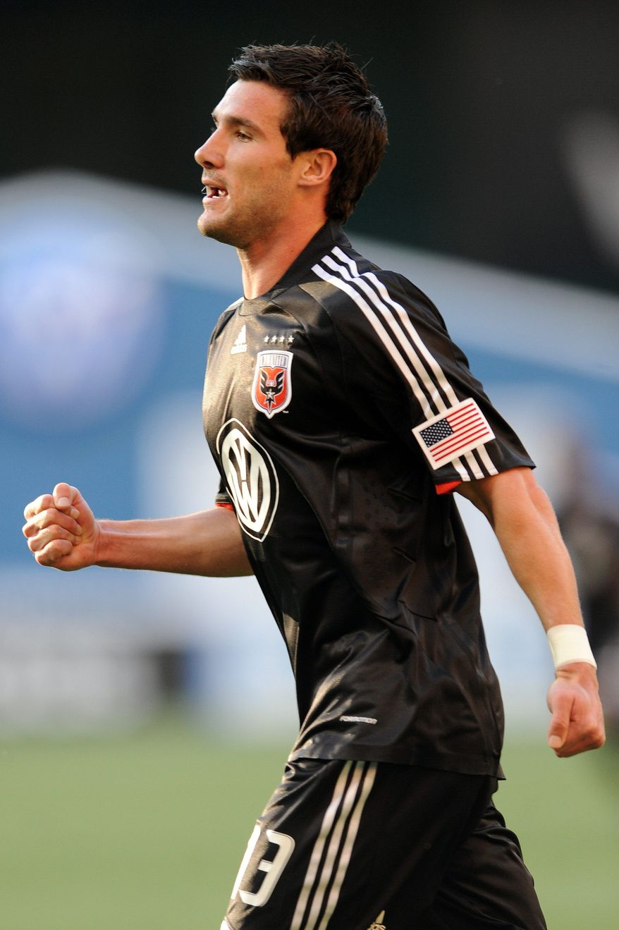 Chris Pontius scored three goals Sunday night to lead D.C. United to a 4-1 win over the New York Red Bulls. (The Washington Times)