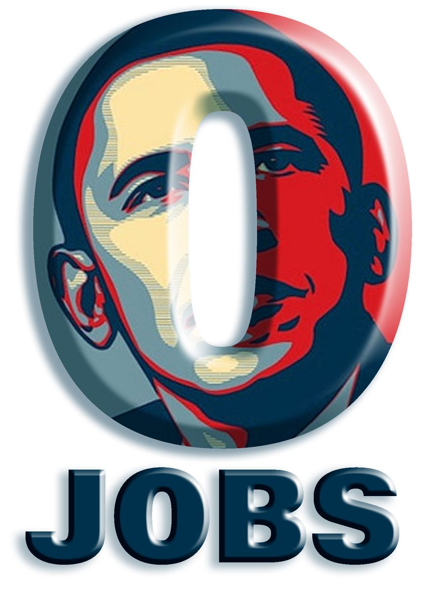 Illustration: O Jobs by John Camejo for The Washington Times