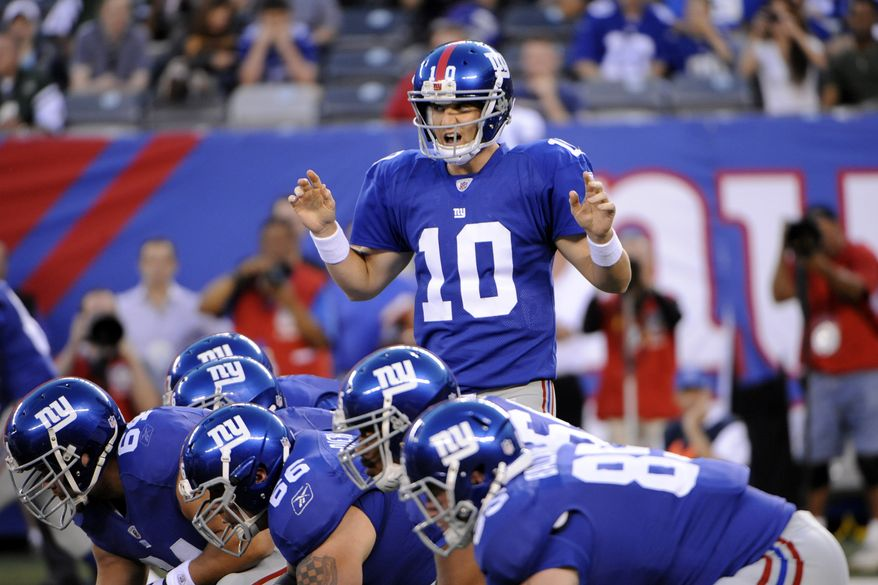 New York Giants might look vulnerable because of a number of injuries, but they're still a tough task for the Washington Redskins on Sunday. (AP Photo/Bill Kostroun)