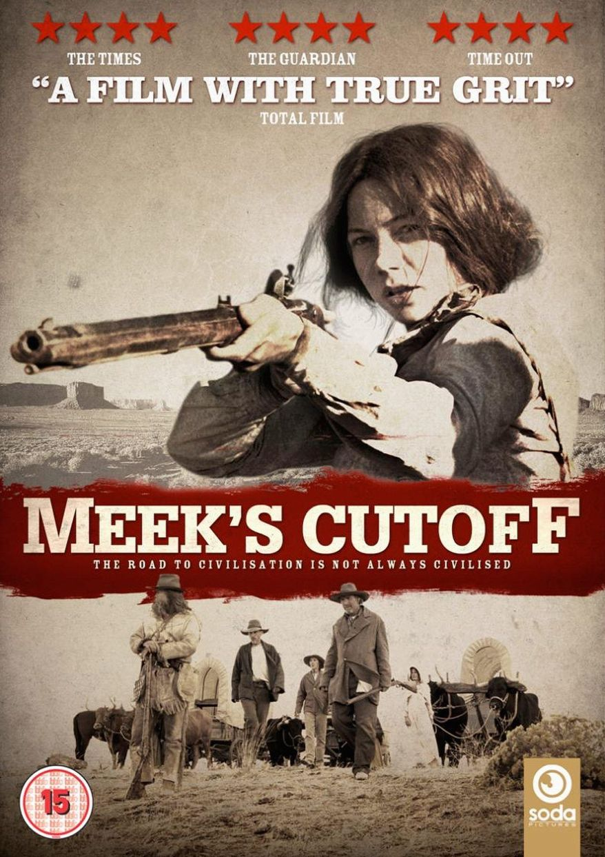 """DVD cover for """"Meek's Cutoff"""" released by Oscilloscope Entertainment"""