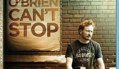 "DVD cover for ""Conan O'Brien Can't Stop"" released by Magnolia Home Entertainment"