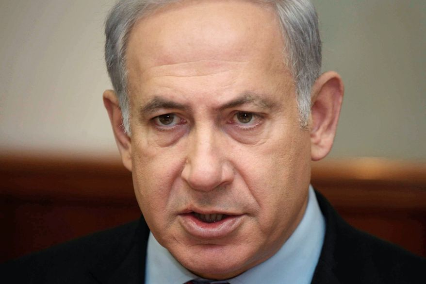 """It is an axis to which there are objectors, who are appealing not against policy, but against Israel,"" said Israeli Prime Minister Benjamin Netanyahu. (Associated Press)"