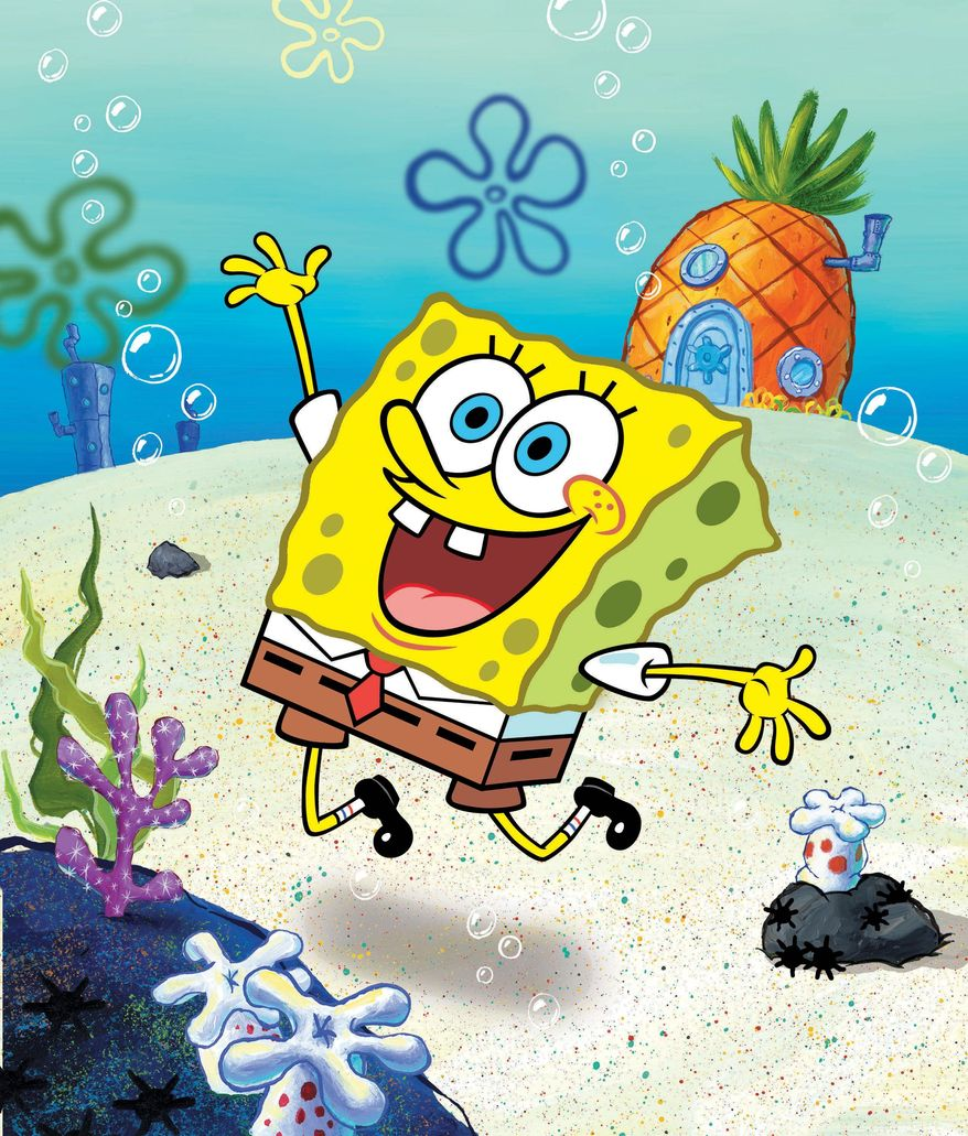 """A new study suggests that watching just nine minutes of """"SpongeBob SquarePants"""" can cause short-term attention and learning problems in 4-year-olds. A Nickelodeon spokesman disputed the findings and said the show is aimed at children ages 6 to 11. (Nickelodeon via Associated Press)"""