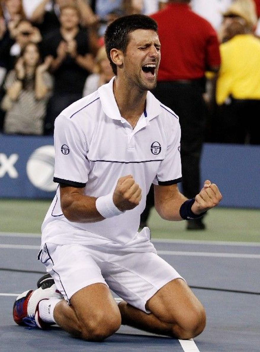Novak Djokovic improved to 64-2 and won his 10th title this year by defeating Rafael Nadal in Monday's U.S. Open final. (Associated Press)