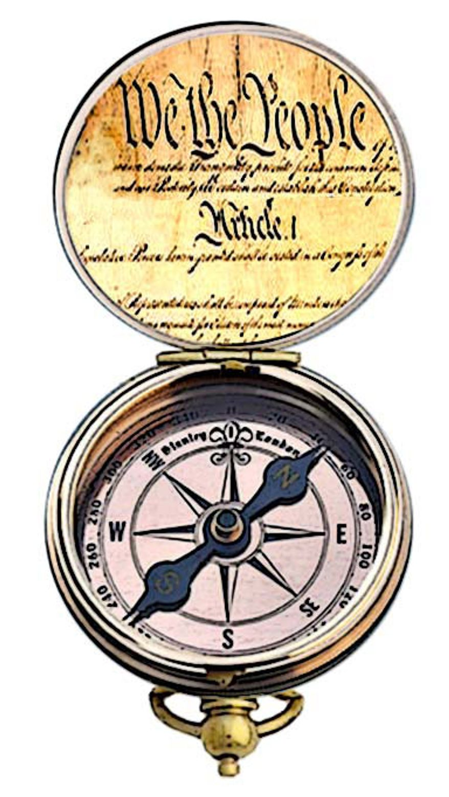 Illustration: Compass by Alexander Hunter for The Washington Times