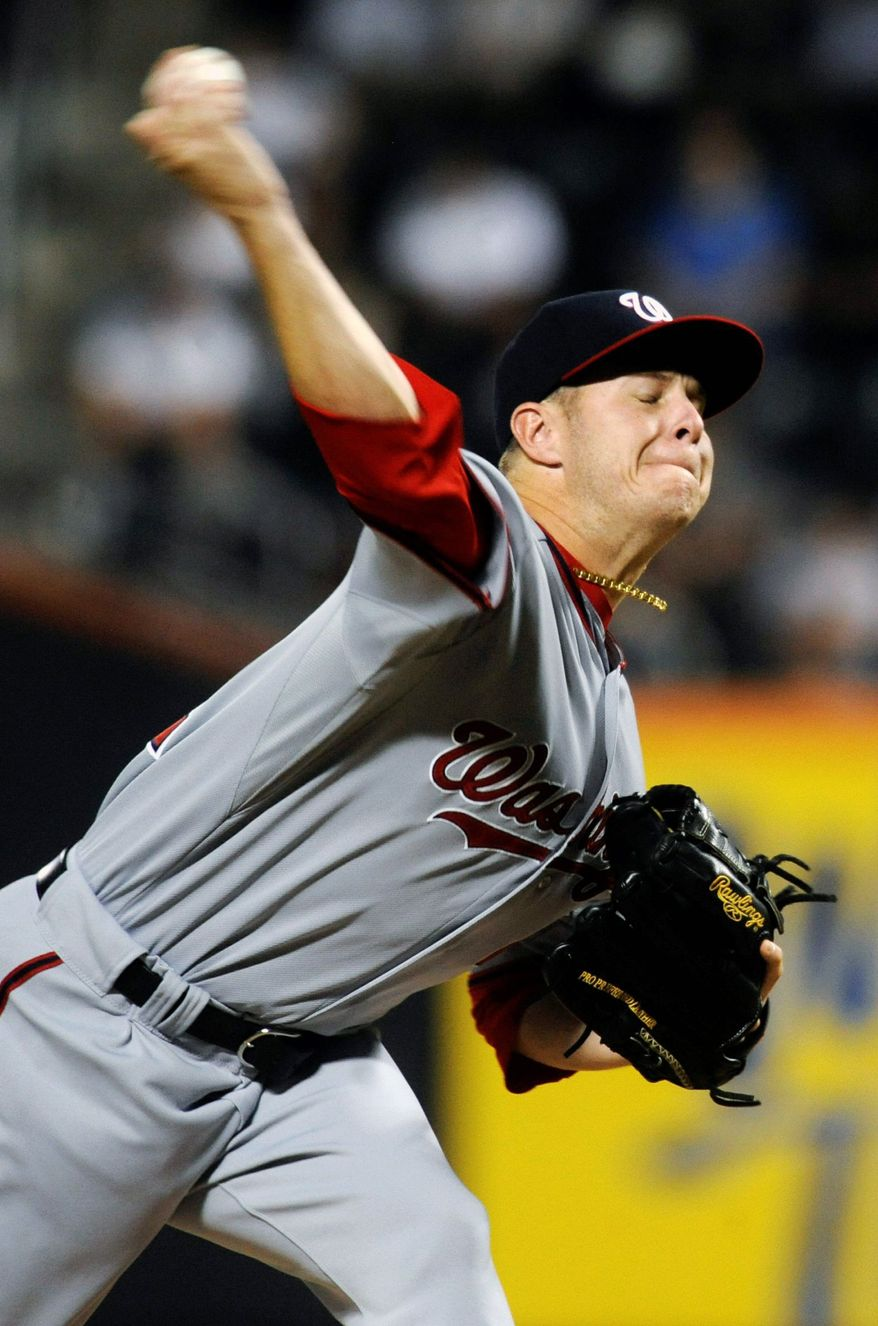 Washington Nationals starting pitcher is making his first start at the major league level against the New York Mets on Wednesday. Peacock was 15-3 with a 2.39 ERA in the minor leagues this season, and had 177 strikeouts in 146 2/3 innings. (Associated Press)